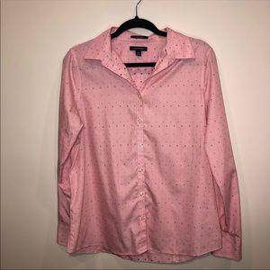 Lamda' End Polka Dor Buttom Up Shirt